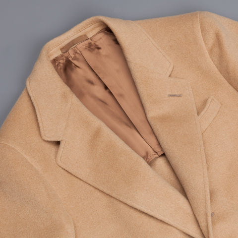 Caruso Butterfly Overcoat Camelhair