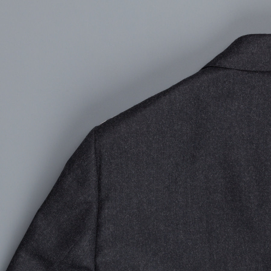 Caruso dark grey flannel wool suit