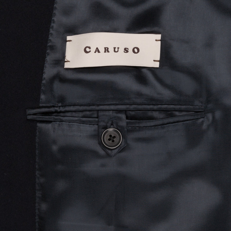 Caruso Zero raglan coat double breasted