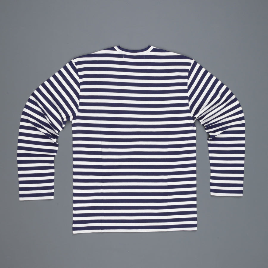 Play Comme des Garçons Striped tee red heart navy white