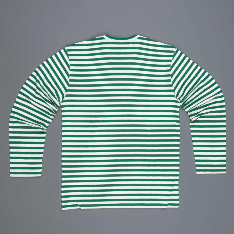 Play Comme des Garçons Striped tee red heart green white