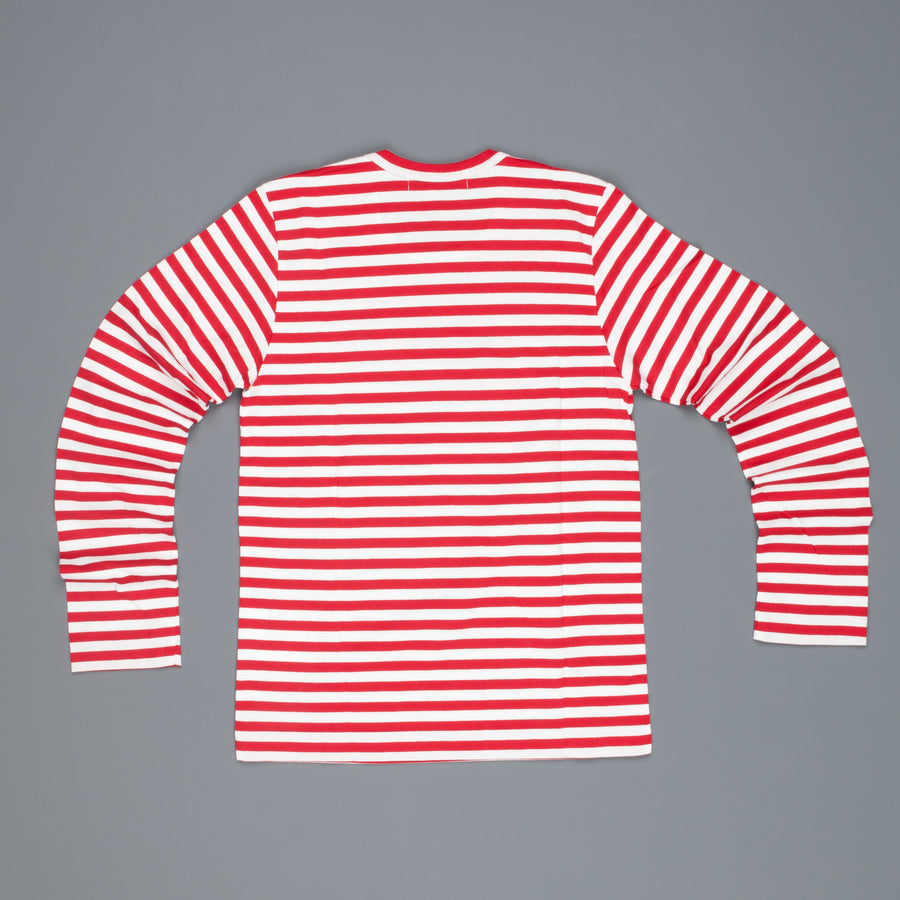 Woman Play Comme des Garçons striped tee red heart Red-White