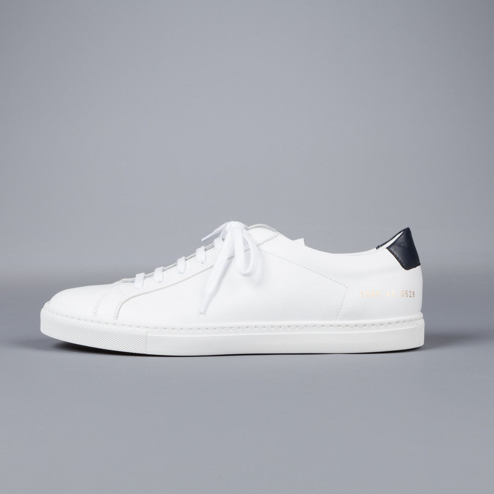 common projects achilles retro low white navy frans boone store. Black Bedroom Furniture Sets. Home Design Ideas