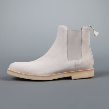 Common Projects Woman by Common Projects Chelsea boot in Grey Suede