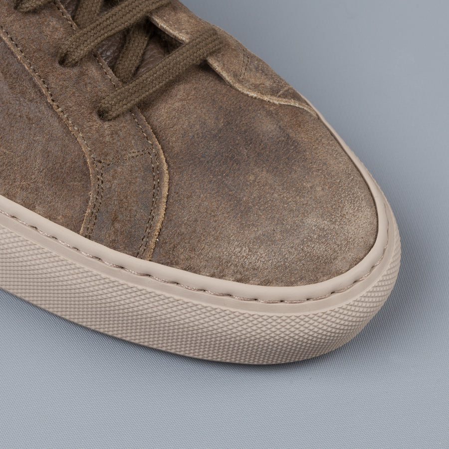 Common Projects Achilles low in waxed suede Olive