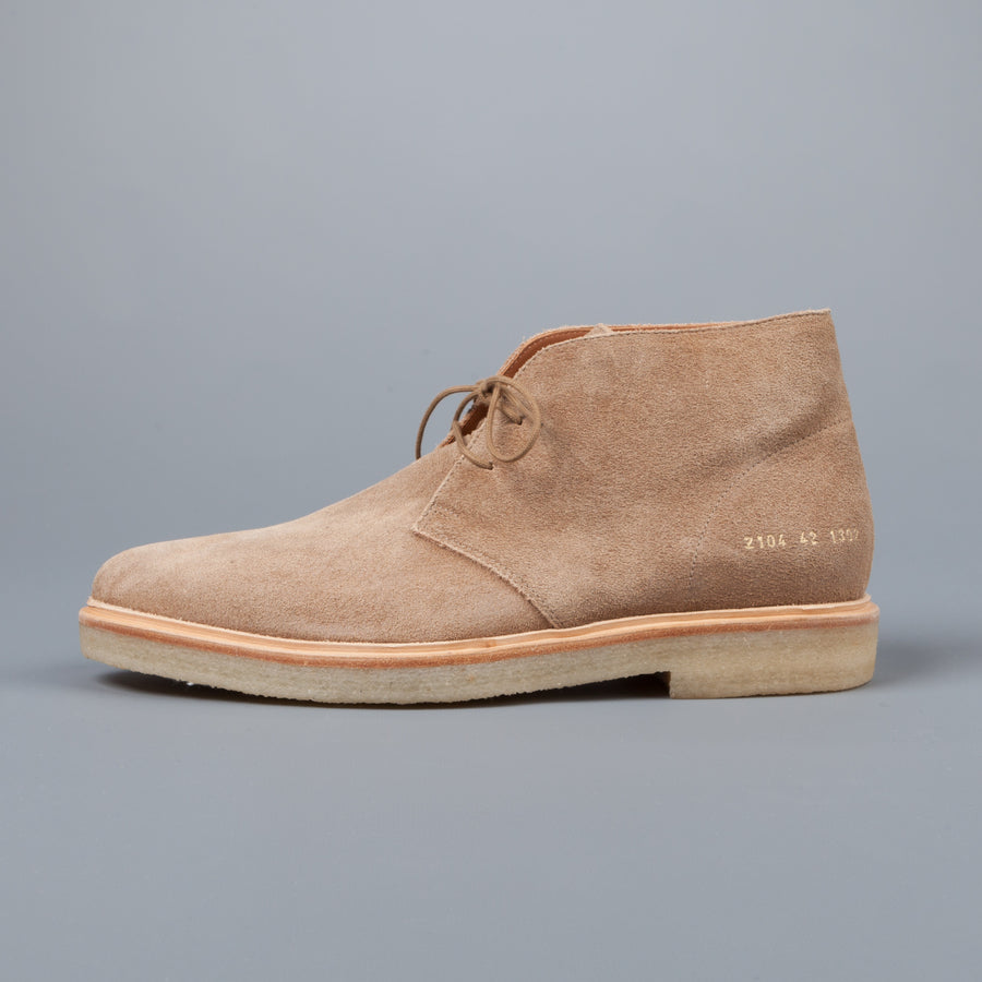 Common Projects Chukka in waxed suede Tan