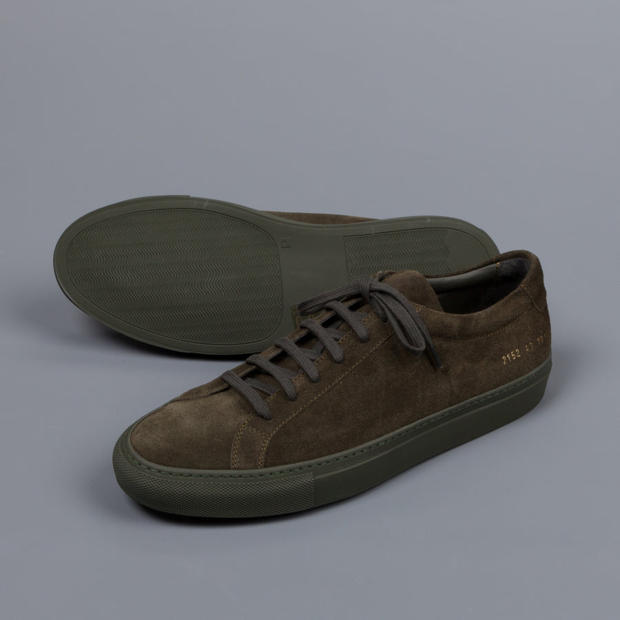 Common Projects Achilles low in suede Olive
