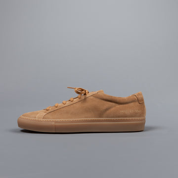 Common Projects Achilles low in suede Amber