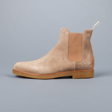 Common Projects Chelsea Boot in Waxed Suede Tan