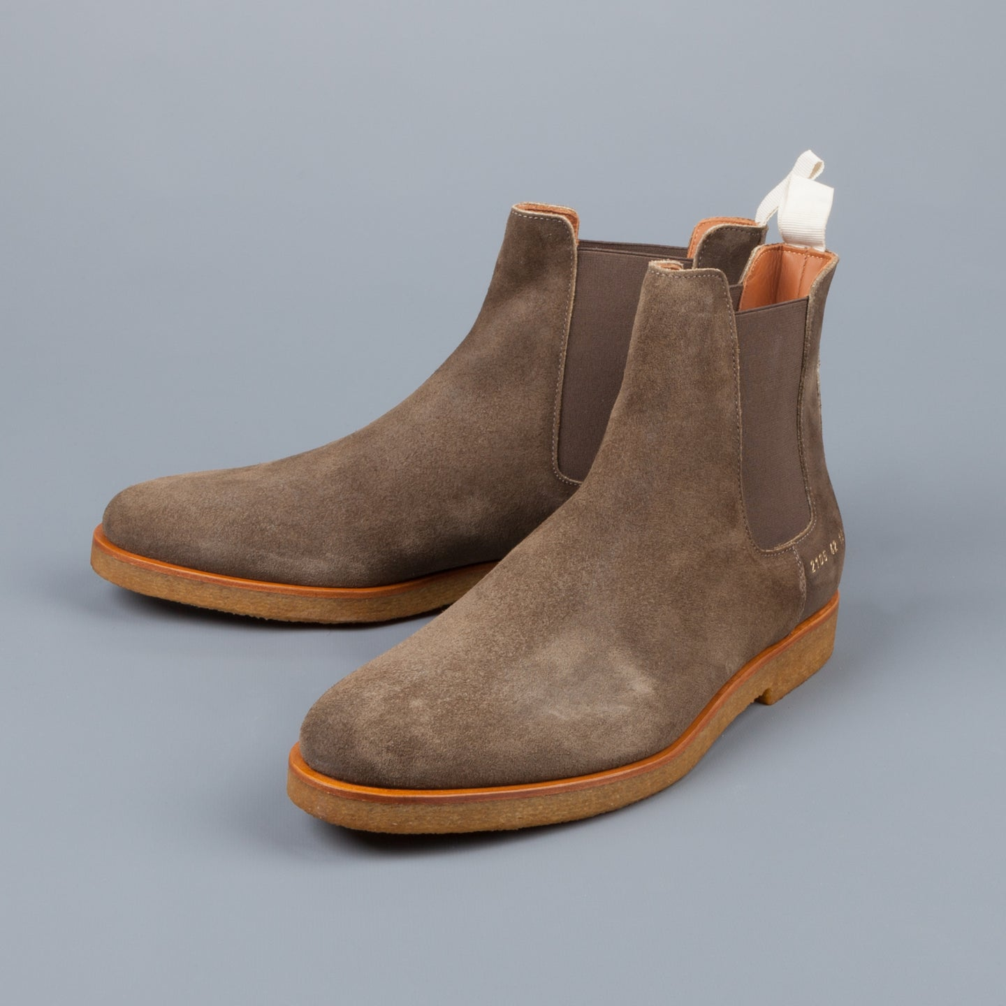 Common Projects Chelsea Boot in Waxed Suede Olive