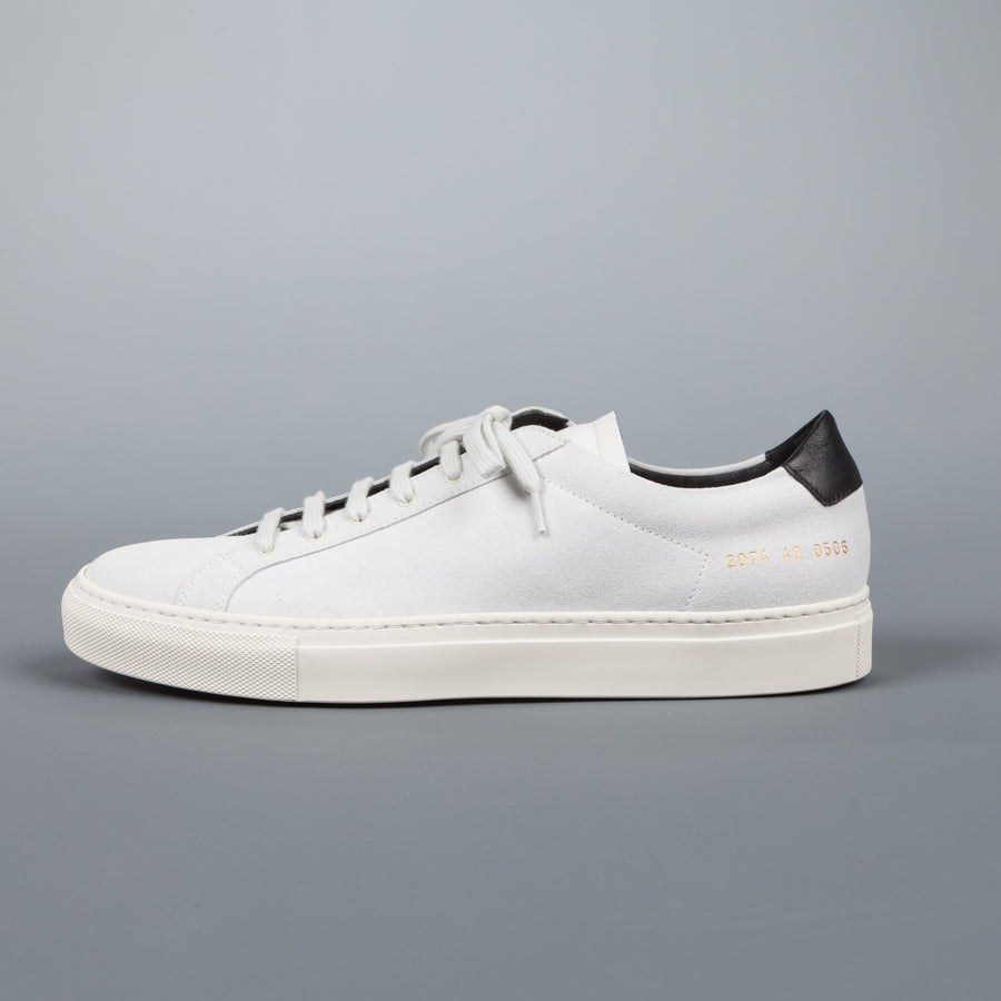 Common Projects  2074 Achilles Retro Low suede 0506 white