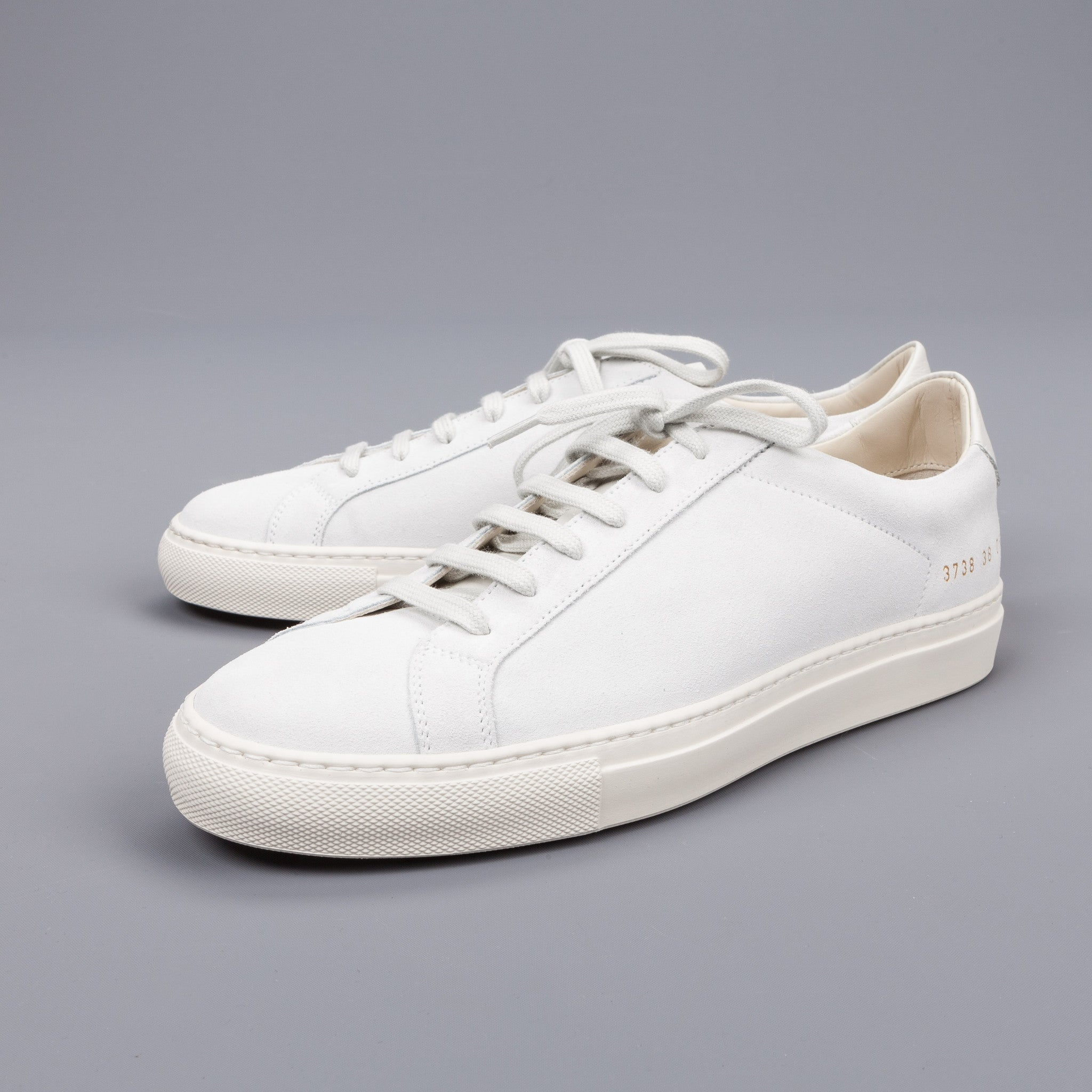 re stocked woman by common projects achilles premium low in suede whi frans boone store. Black Bedroom Furniture Sets. Home Design Ideas