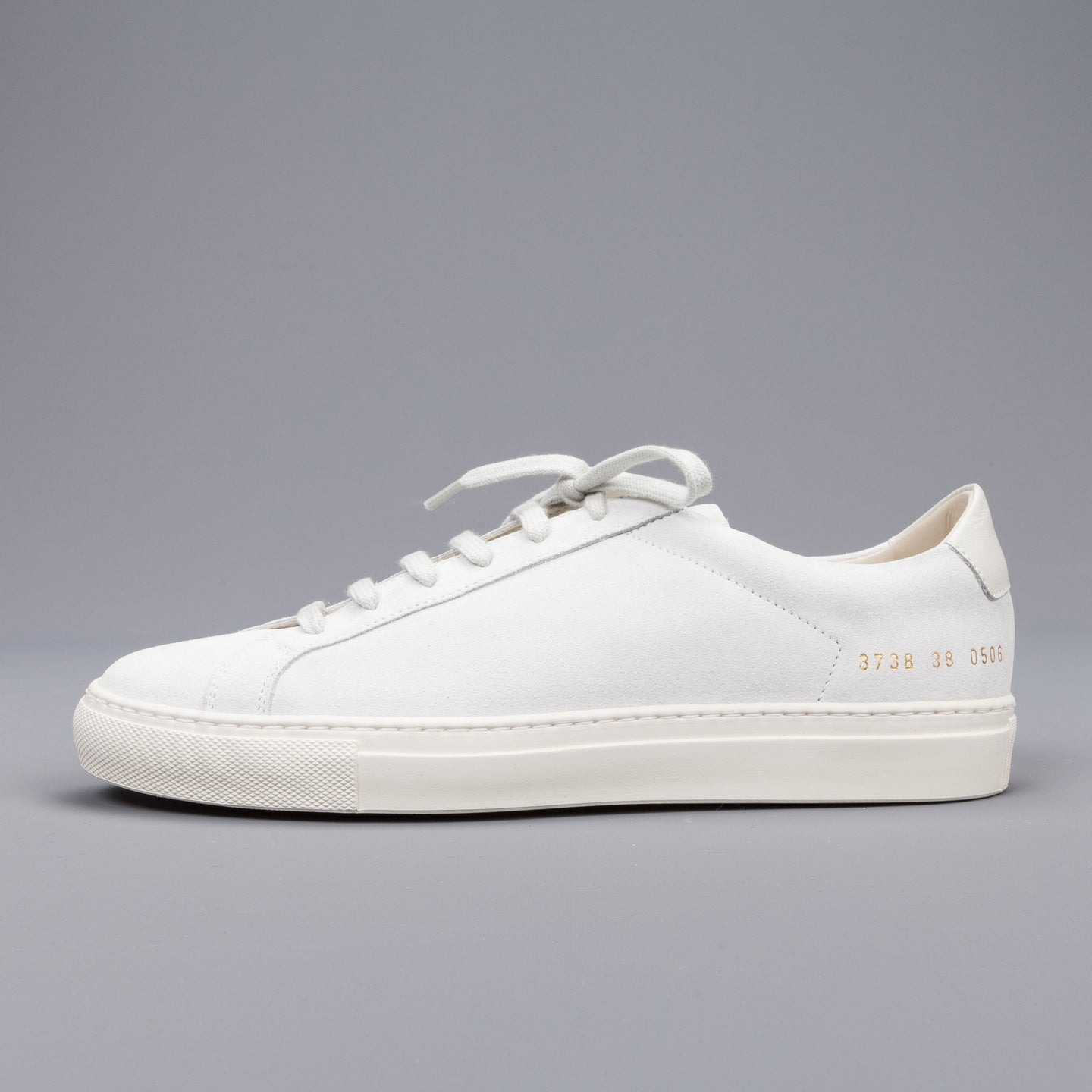 Grey and White Original Achilles Low Premium Sneakers Common Projects uelgxTY0