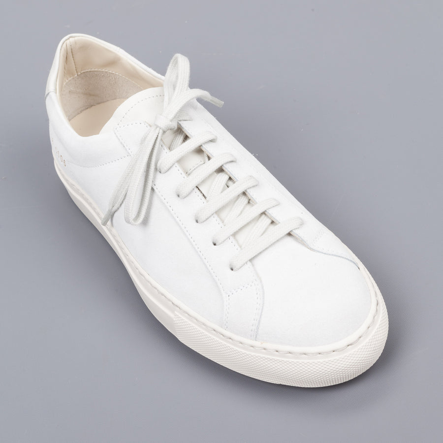 Common Projects Woman by Common Projects  Achilles premium low in suede white 3738