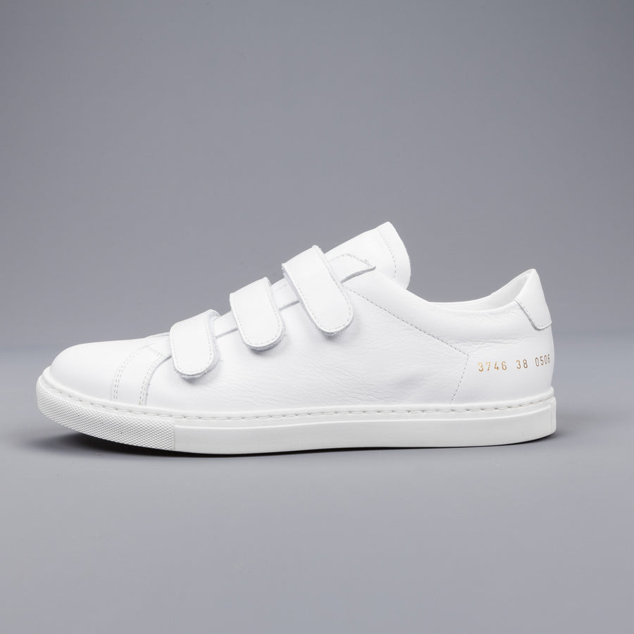 7e76197e118f6 Woman by Common Projects Three strap Achilles White – Frans Boone Store
