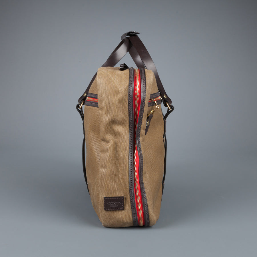 Croots Flight Bag waxed olive