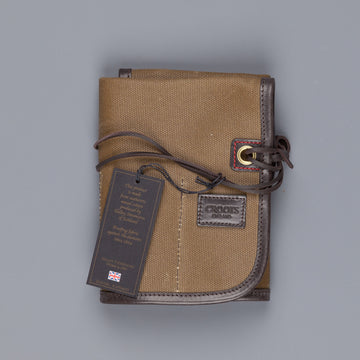 Croots Tool Roll Waxed Vintage Olive Canvas