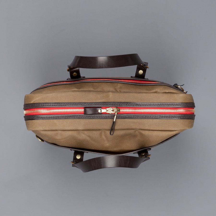 Croots Laptop bag  Waxed Vintage Canvas (olive)