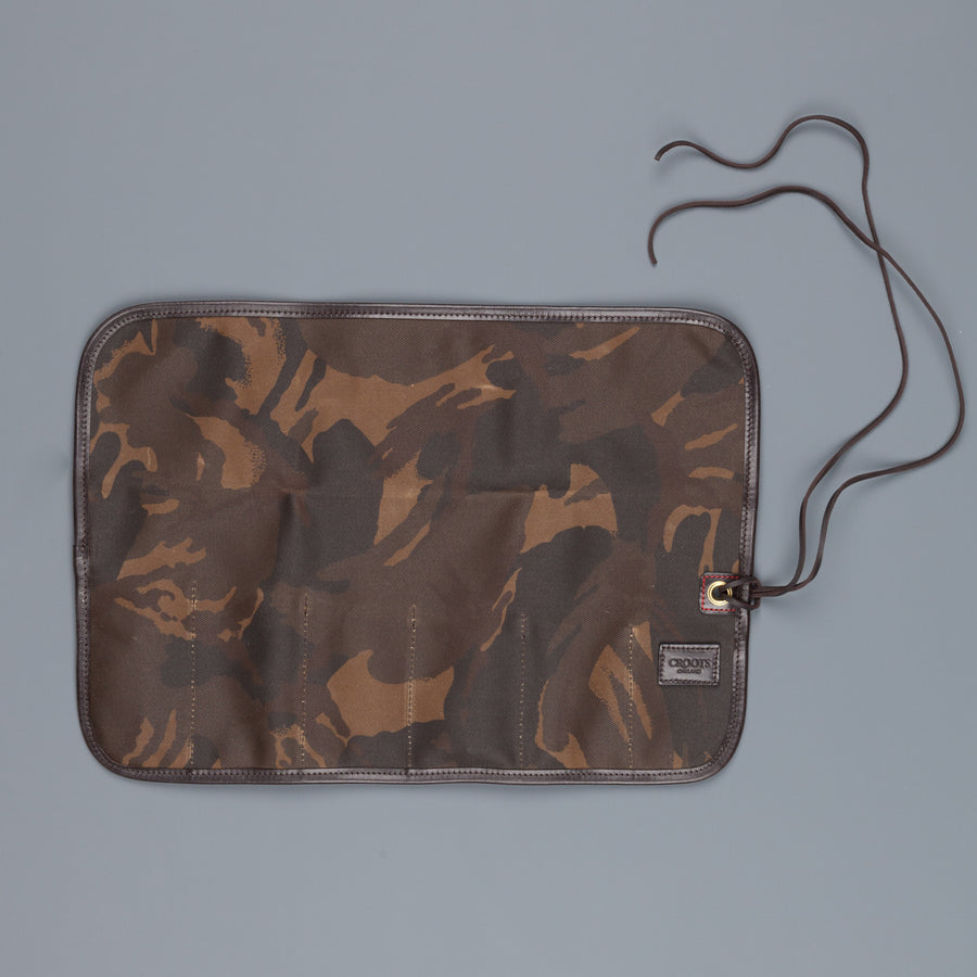 Croots Tool Roll Waxed Camo Canvas
