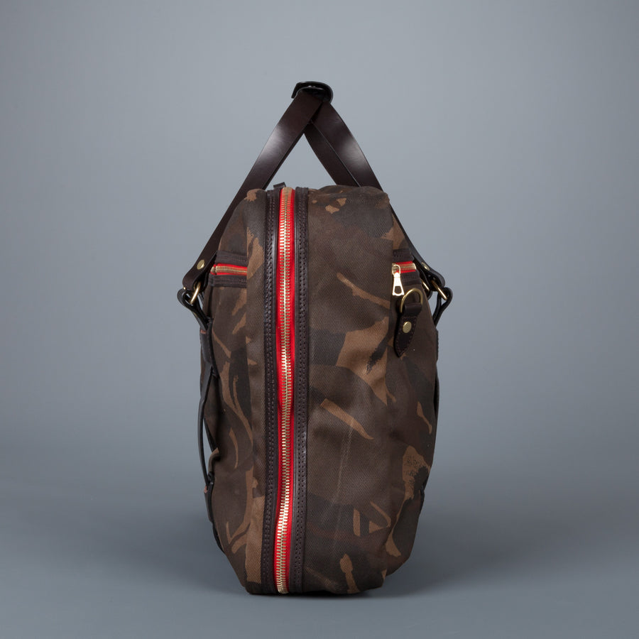 Croots Flight Bag waxed camo