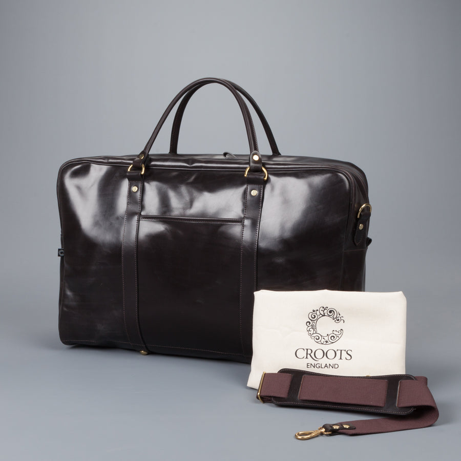 Croots Bridle leather Holdall havana large