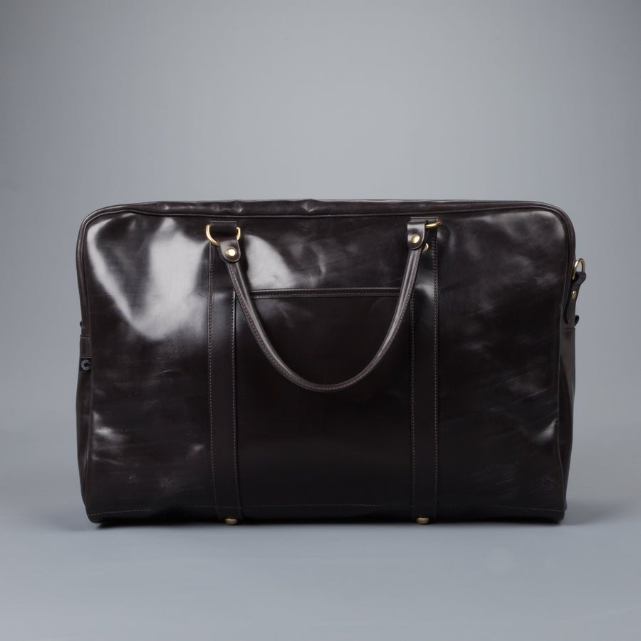 Croots Bridle leather Holdall havana medium
