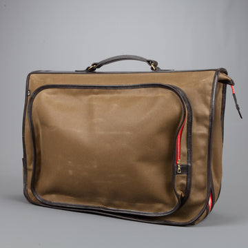 Croots Officers Garment Bag Waxed Vintage Canvas