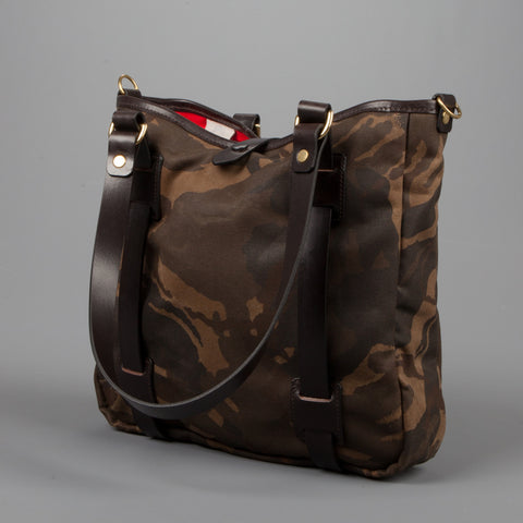 Croots Tote Bag  Waxed Camouflage