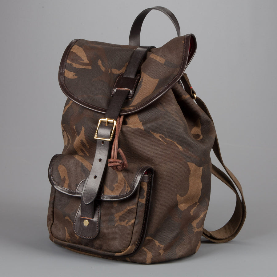 Croots Drawstring rucksack  Waxed Camouflage