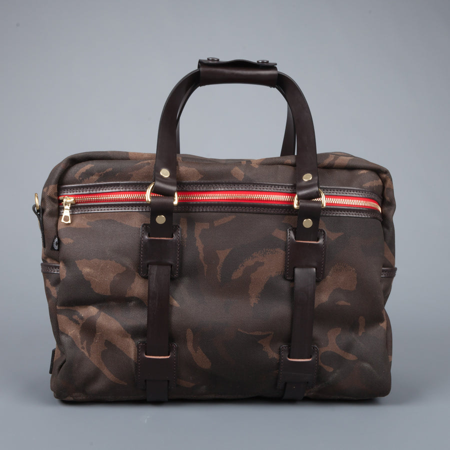Croots Vintage waxed camo traveller bag