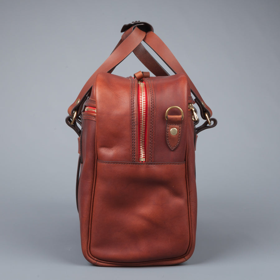 Croots Vintage leather traveller bag port