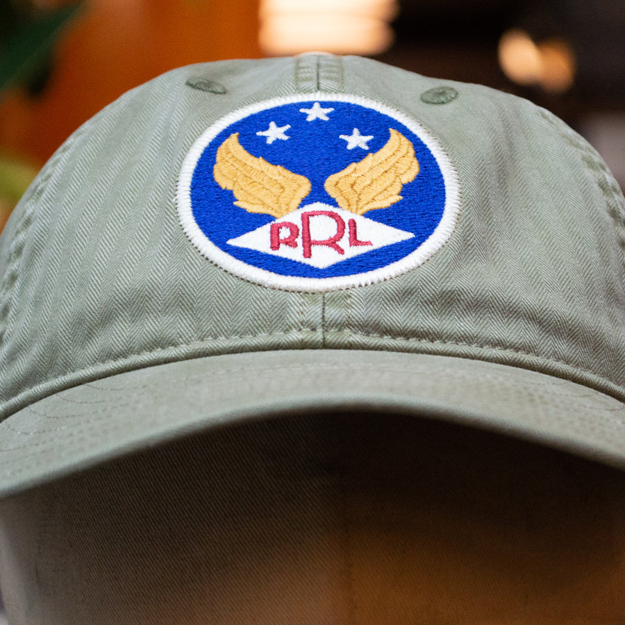 RRL Ball Cap Hat Brewster Green