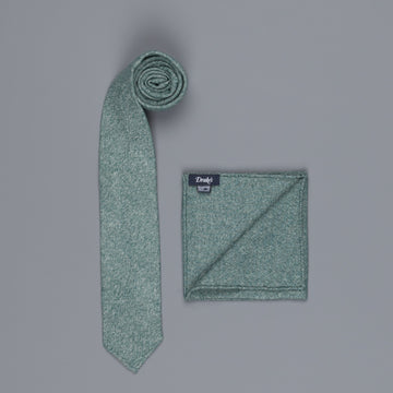 Drake's Cashmere Tie untipped & Pocket Square Match bottle melange