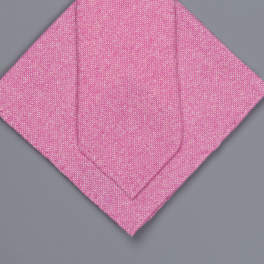 Drake's Cashmere Tie untipped & Pocket Square Match light pink melange