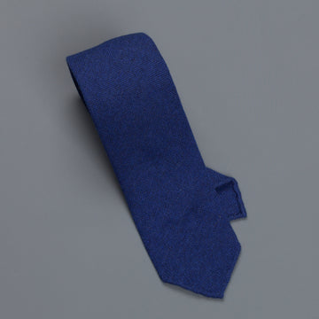Drakes Cashmere tie, untipped Royal Blue