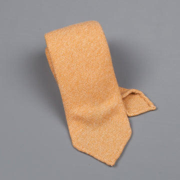 Drake's Cashmere Tie untipped light orange melange