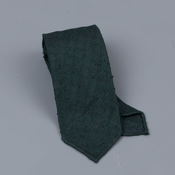 Drakes untipped basketweave tie in shantung silk Bottle