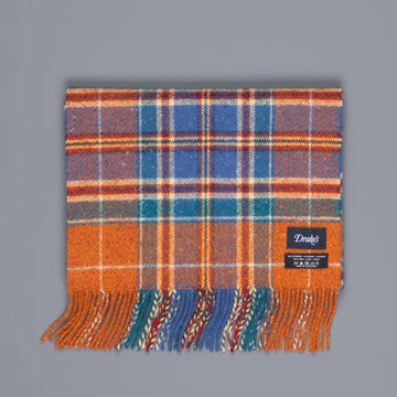 Drake's cashmere wool scarf check vintage