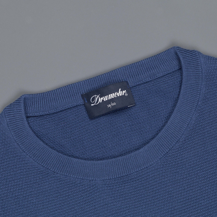 Drumohr Cotton Crew Neck Ocean