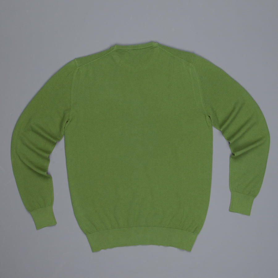 Drumohr Cotton Crew Neck Olive