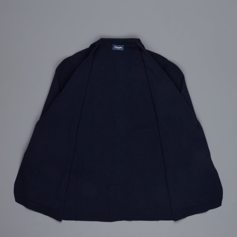 Drumohr Cotton Cardigan Blue Notte