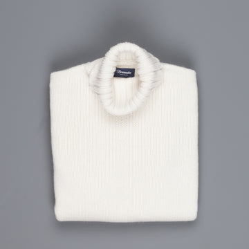 Drumohr Cashmere Dolcevita Turtleneck Off White