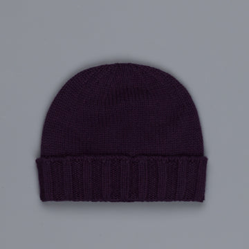 Drumohr Ribbed Cashmere Hat Deep Purple