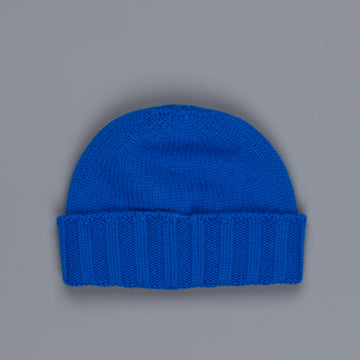 Drumohr Ribbed Cashmere Hat Royal Blue
