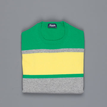 Drumohr Cashmere Crew Neck Color Block