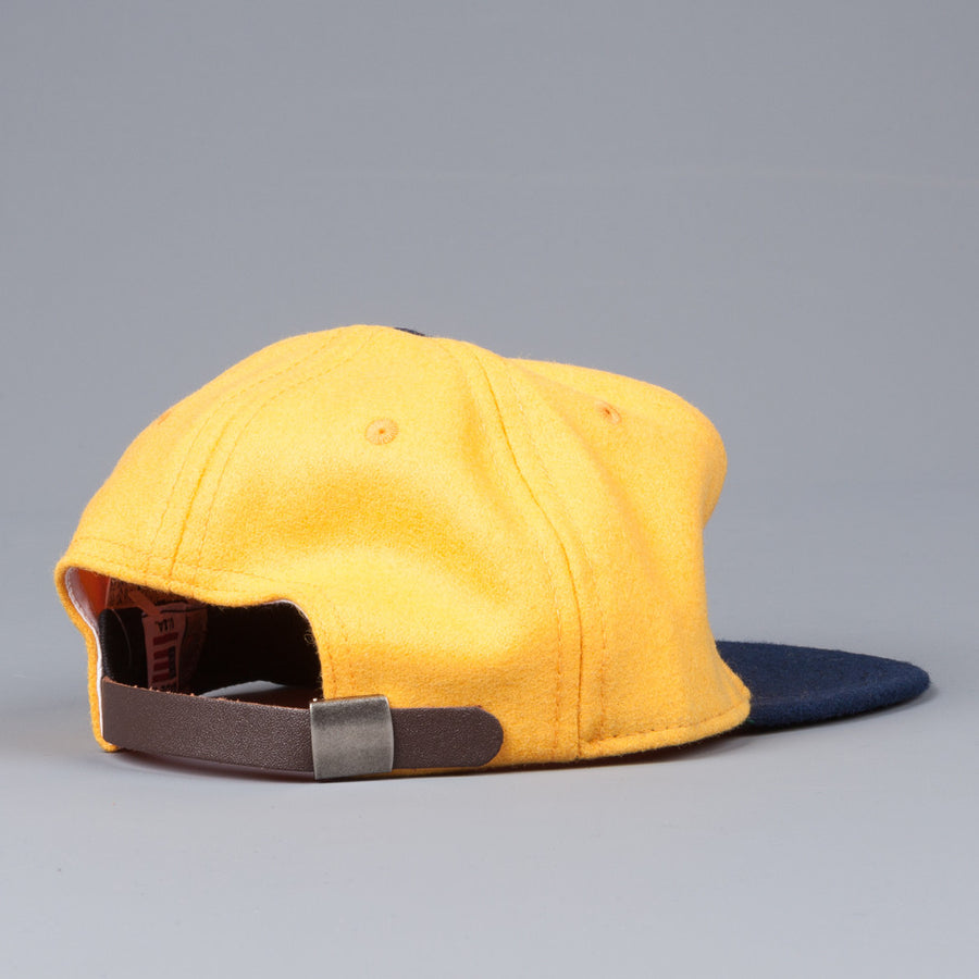 Ebbets Field Flannel US naval academy 1959 6 panel strap back cap yellow