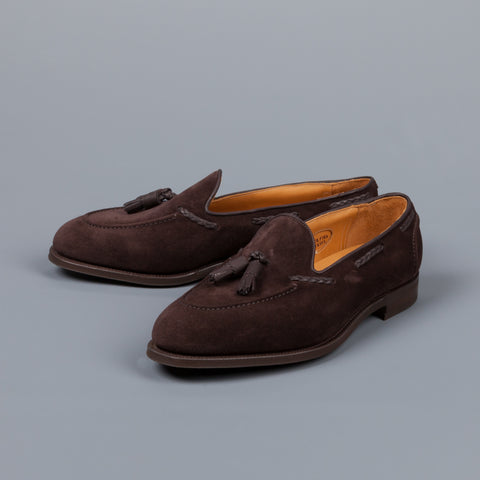Edward Green Belgravia Espresso Suede on R1 sole