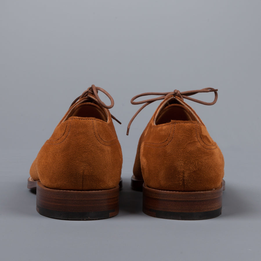 Edward Green Dover Tobacco suede on leather sole