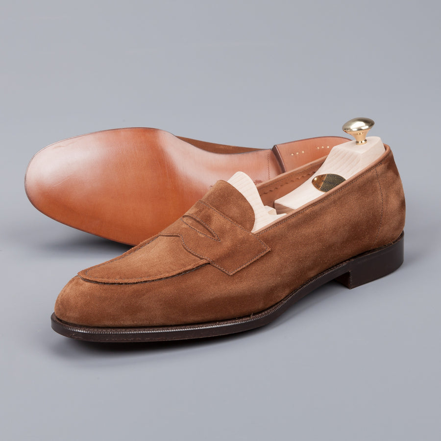 Edward Green Harrow Coffee Suede