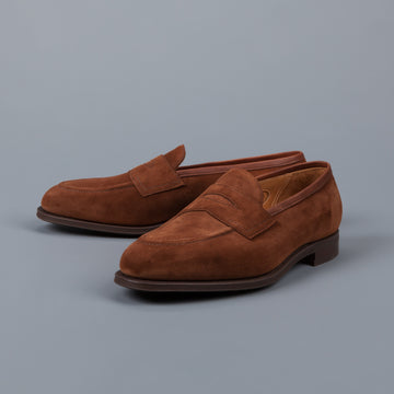 Edward Green Piccadilly in Snuff suede on rubber sole